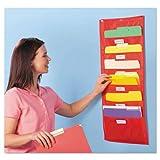 EDUCATIONAL INSIGHTS, INC 1693 Storage Pocket Chart, 5 Pockets, Red, 14 x 32