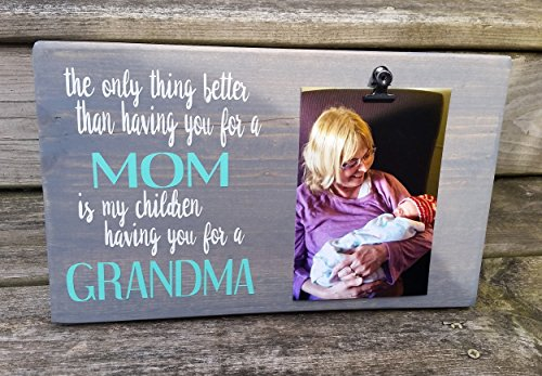 Mother's Day Picture Frame gift! Gift for mom, photo board, picture with clip, gift for grandma, Father's Day gift, gift for dad