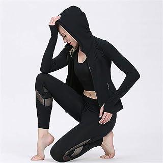 QINB Pantaloni di Maglia a Tre Pezzi da Donna di Abbigliamento Yoga