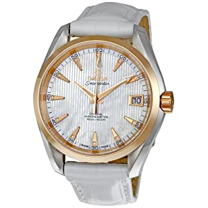 Omega Men's 231.23.39.21.55.001 Seamaster Mother-Of-Pearl Dial Watch