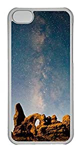 LJF phone case Customized ipod touch 4 PC Transparent Case - Starry Sky Cover