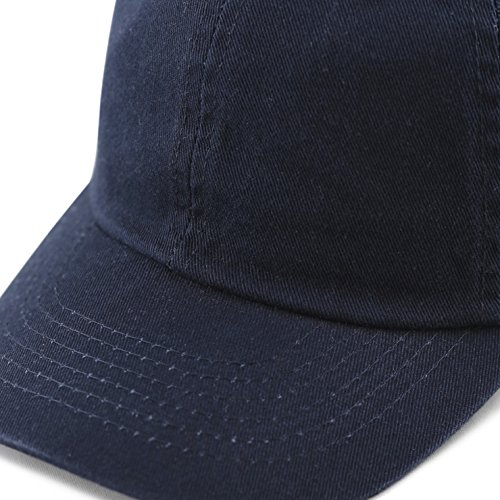 The Hat Depot Kids Washed Low Profile Cotton and Denim Plain Baseball Cap Hat