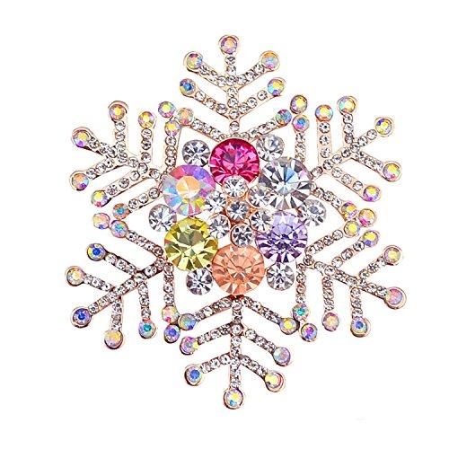 broche bijoux broches_ strass pour femmes dames filles_ flocon de neige broche fleur scintillant