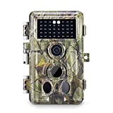Meidase Trail Camera 16MP 1080P, Game Camera with No Glow Night Vision Up to 65ft, 0.2s Trigger Time Motion Activated, 2.4'' Color Screen Waterproof Wildlife Hunting Camera (Camouflage_Green)