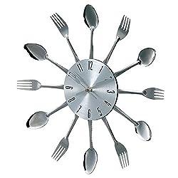 Stilnovo Verichron Metal Fork and Spoon Clock
