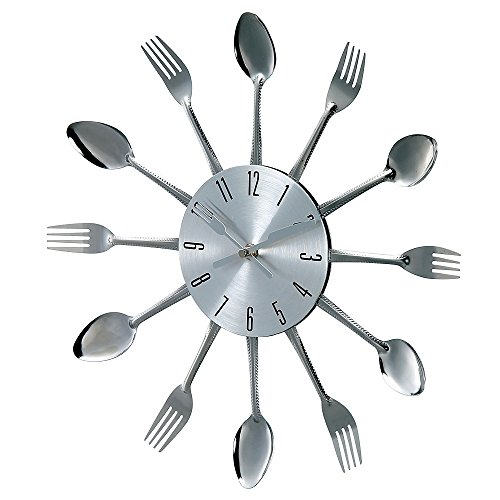 Stilnovo Verichron Metal Fork and Spoon Clock