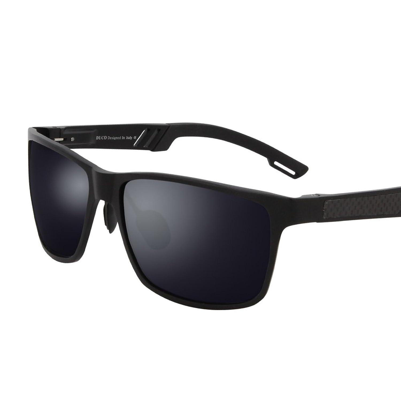Duco Wayfarer Design Sonnenbrille Unisex Brille mit Federscharnier ...