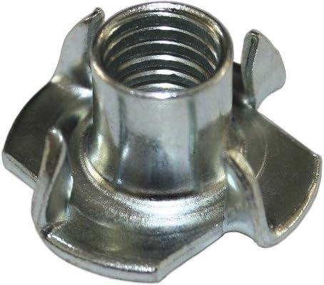 M 4 x 8 VE:8000St/ück galv verzinkt Einschlagmuttern mit 4 Einschlagspitzen