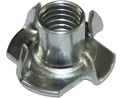 Einschlagmuttern mit 4 Einschlagspitzen | M 5 x 8mm VE = 100 Stü ck | Stahl, galvanisch verzinkt Dresselhaus