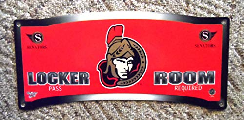Ottawa Senators Decorative Locker Room Sign - Man Cave? Kid's Room? from Ottawa Senators