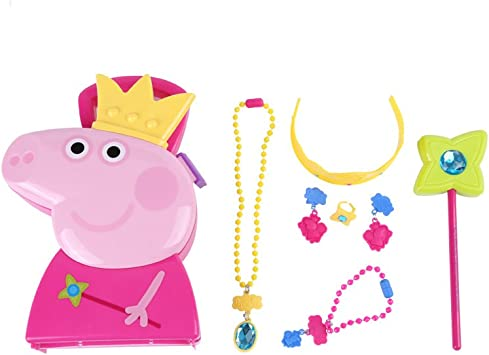 PEPPA PIG Carry Jewellery Case With Fun Magique Wand /& Diadème Ages 3+
