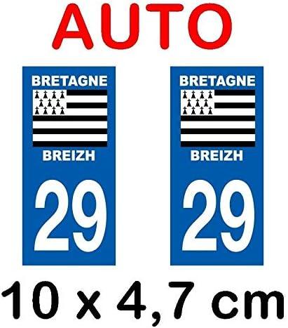 JINTORA 2 Stickers Autocollant Style Plaque Immatriculation d/épartement 83 102x46 mm