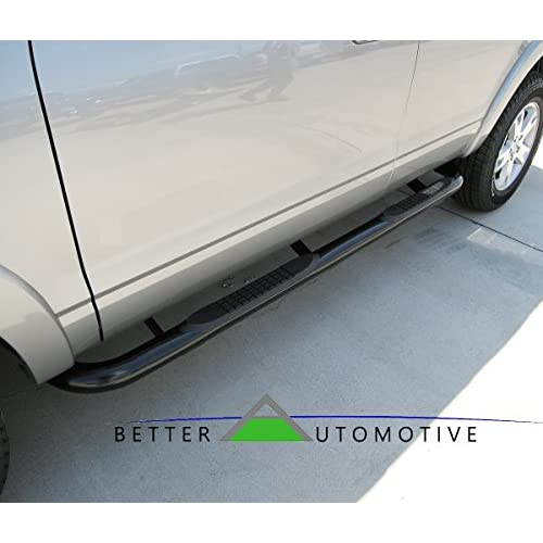 "Hot BETTER AUTOMOTIVE 2003-2008 HONDA PILOT 3"" ROUND SIDEBAR BLACK Step Nerf Bars Running Boards hot sale"