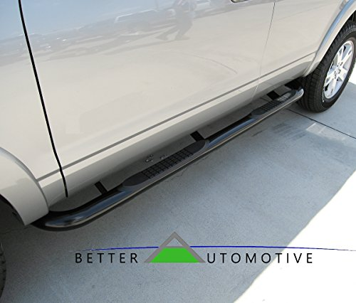 Frontier Nissan Running Boards (BETTER AUTOMOTIVE B2A4M0900 2005-2017 Nissan Frontier/2007-2012 Suzuki Equator Crew Cab, Round Black Side Bar Step Nerf Bars Running Boards)