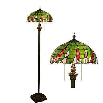 Style Rétro Lampadaires Verte Tiffany Lampe De 16 Light Pouces tdshrQCxoB