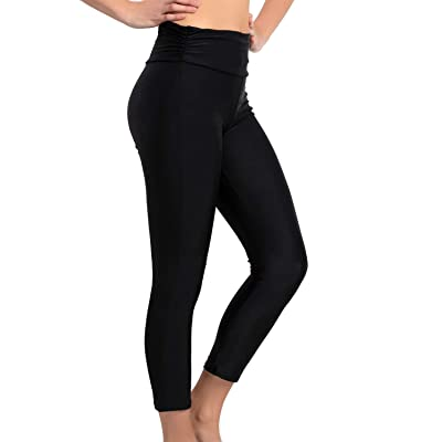 KEEPRONE Women's Swim Pants, UPF 50+ High Waisted Swimming Leggings, Tummy Control Water Sport Tights: Clothing