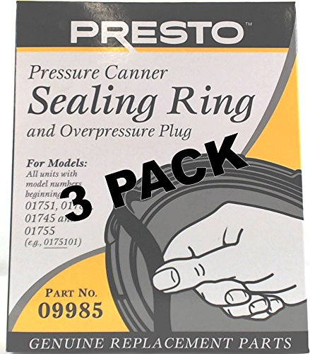 3 Pk, Presto Pressure Cooker Sealing Ring 09985