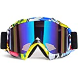 Motorcycle Goggles ATV Goggles Motocross Goggles Windproof Dirt Bike Goggles Dustproof Off Road Goggles Scratch Resistant Ski