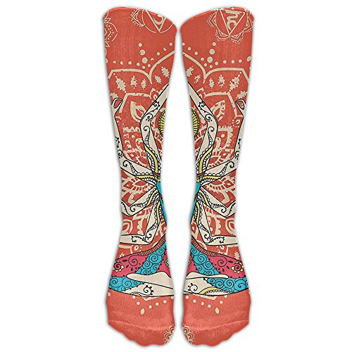 Yoga Technology And National Costume Badges Athletic Tube Stockings Women's Men's Classics Knee High Socks Sport Long Sock One (Costumes National Boots)