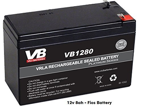verizon fios upgrade replacement battery 12v 8ah sla. Black Bedroom Furniture Sets. Home Design Ideas