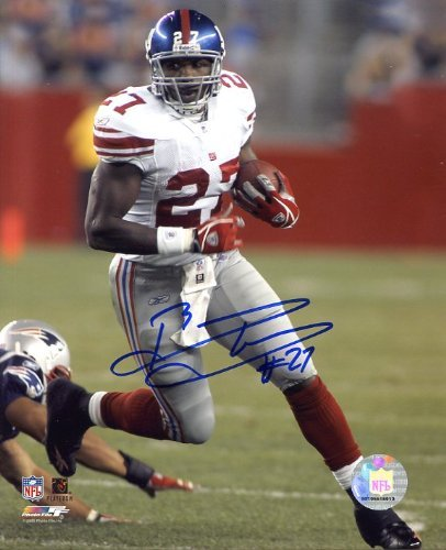Brandon Jacobs Autographed/ Original Signed 8x10 Action-photo with the New York Giants