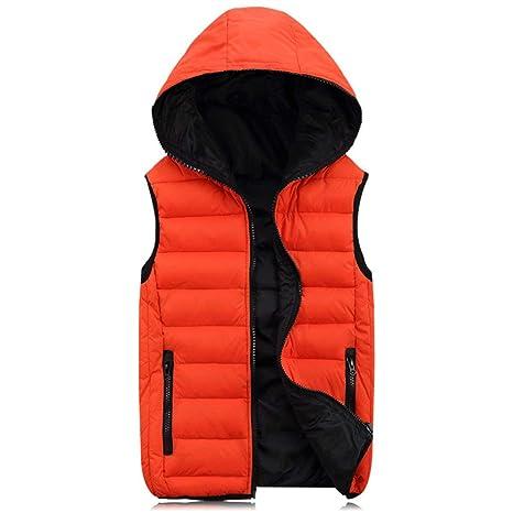 398fee1eeb9 Swiftswan Men's Winter Thicken Puffer Cotton Vest Sleeveless Jacket Gilet  with Hood Mens Work Vests Coats: Amazon.co.uk: Health & Personal Care