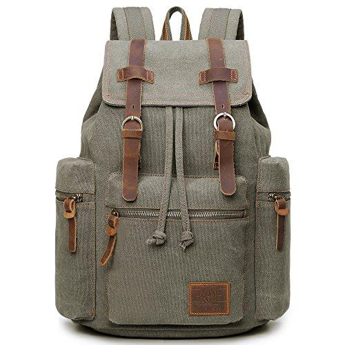 Vintage Canvas Backpack For Unisex (Black) - 1