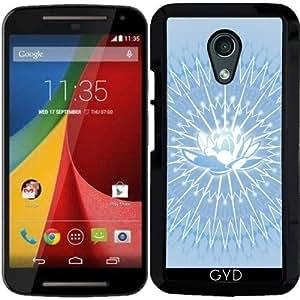 Funda para Motorola Moto G (Generation 2) - Flor Mandala Azul by Nina Baydur