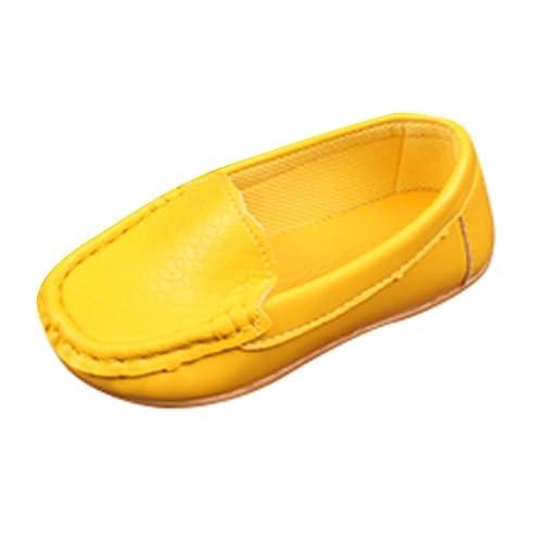 QinMM 1-12 años bebé Niños Niñas Sólido Cuero de PU Zapatilla de Deporte Casual Zapatos Planos Mocasines: Amazon.es: Zapatos y complementos