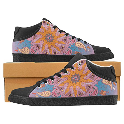 Interestprint Jeans Duk Chukka Mode Sneakers För Kvinnor Färgstarka Antistress Mandala