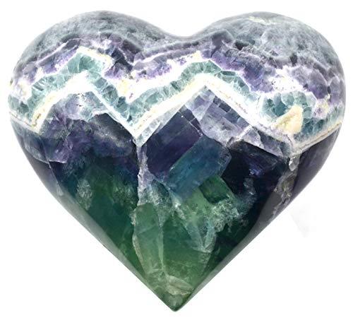Vibrant Fluorite Heart Figure, 5