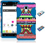 BasTexWireless Bastex Hybrid Case for Lg Optimus L9 P760 / Optimus 4g P769 - Sky Blue Silicone / Aztec Tribal Hard