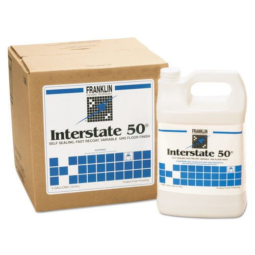 Finish Gallon Floor Cube 5 (Franklin Cleaning Technology F195025 Interstate 50 Floor Finish, 5 Gallon Cube)