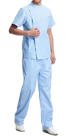 4e251bac951 Nurse Doctor Medical Uniform Unisex Top and Pant Set Workwear for Women Man  CF9028 (S