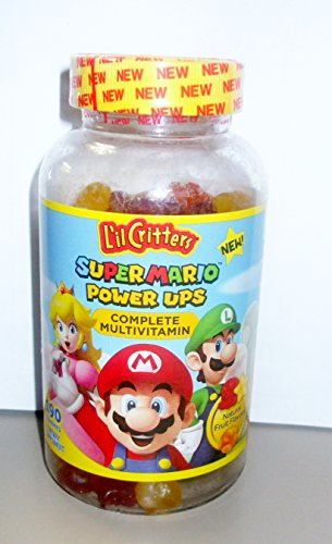 L'IL CRITTERS SUPER MARIO POWER UPS COMPLETE MULTIVITAMIN, 190 GUMMIES