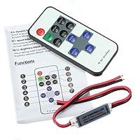 Remote Controller 11Keys Mini Dimmer for Led Single Color Strip DC 12V.