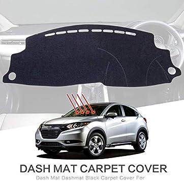 Salusy Black Dashboard Dash Protector Dash Mat Sun Cover Pad Honda HR-V HRV 2016 2017 2018 2019