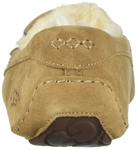 Ugg Womens Ansley Embroidery Moccasin Chestnut