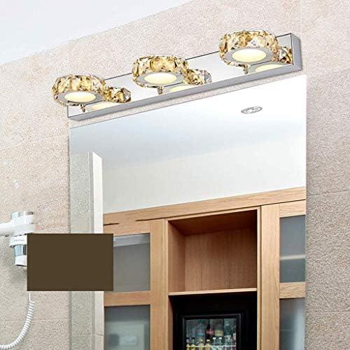 HIZLJJ バスルームでの近代LEDバニティライトステンレス鋼壁ランプ (Color : Silver)