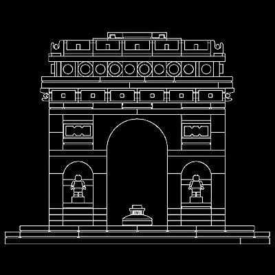 LEGO Architecture Arc De Triomphe 21036 Building Kit (386 Piece): Toys & Games