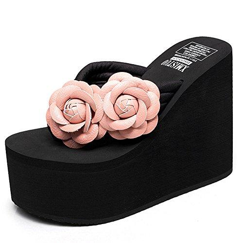 Pantoufles Chaussures 12CM pour HAIZHEN Femmes qxaUwOnBRW