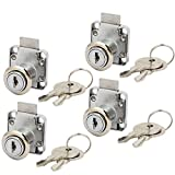 Aexit Cabinet Mailbox Cabinet Hardware Cupboard Safety Tubular Drawer Lock 16mmx20mm Latches Cylinder 4pcs
