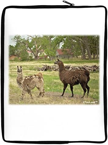 TooLoud Standing Llamas 17 Neoprene Laptop Sleeve 10 x 14 Portrait