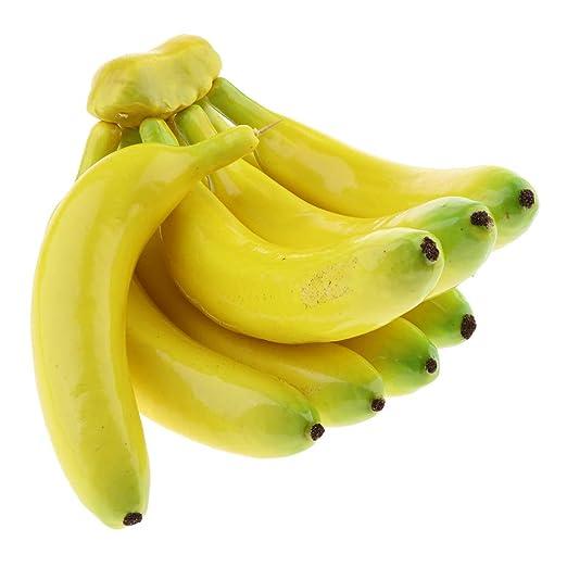 8 Piezas Modelismo Simulada Bananas de Espuma Decoraciones de Mesa ...