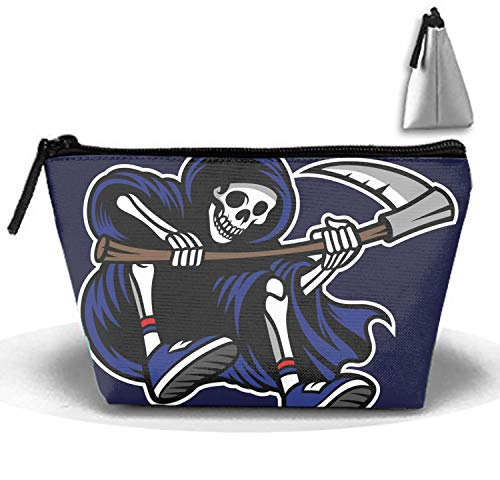 PANQJN Dressing Case Travel Grim Reaper Riding Skateboard Cosmetic Bags with Makeup Artist Case Multi Functional Makeup Handbag for Travel & Home Gift