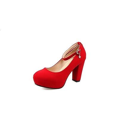 AdeeSu Womens No-Closure Platform Bridal Suede Pumps Shoes SDC03857