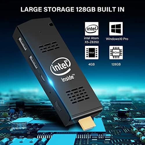 4K HD,Dual Band WiFi 2.4G//5G Mini Computer Stick with Intel Atom Z8350 /& Windows 10 Pro PC Stick 128GB ROM 4GB RAM Support Auto-on After Power Failure Bluetooth 4.2 AIOEXPC
