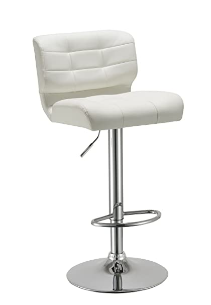 Surprising Amazon Com Duhome Luxury White Synthetic Leather Bar Stool Gamerscity Chair Design For Home Gamerscityorg