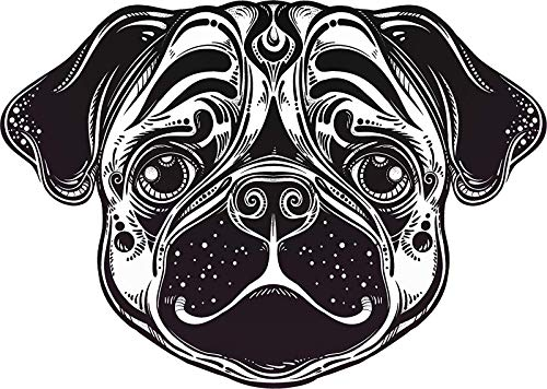 Magnet Cool Abstract Futuristic Pug Bully Puppy Dog Head Face Cartoon (4