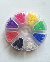 160 Pcs Silicone Dental Code Rings 8 col...
